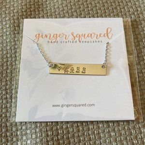New boutique embossed necklace